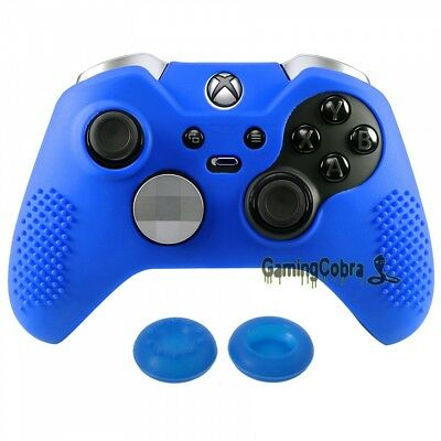 Blue Soft Silicone Case Cover Skin Thumb Grips for Xbox One Elite Controller