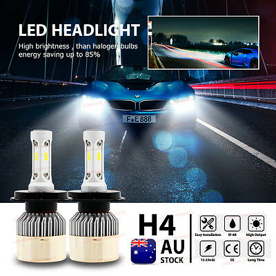 H4 HB2 9003 25200LM 252W LED Headlight Bulbs Conversion Kit High/Low Beam 6500K