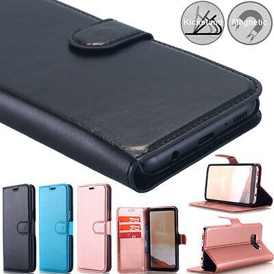 Samsung Galaxy S8+ Note 8 Case Luxury Magnet Flip PU Leather Wallet Stand Cover