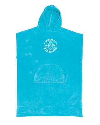 Ocean & Earth Ladies Hooded Towel Poncho In Aqua