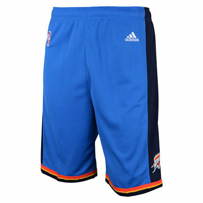 Youths OKC Thunder Adidas NBA Replica Road Shorts - Blue