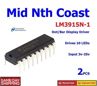 2 x LED Bar/Dot Display Driver IC NSC DIP-18 LM3915N-1 LM3915N-1/NOPB
