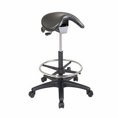 Office Star 'Work Smart' Backless Drafting Saddle Seat Stool ST205 Black New