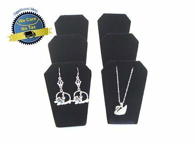 """Jewelry Necklace Display Black Velvet Easel Stand Earring Rack 2"""" 6 Pcs Displays"""
