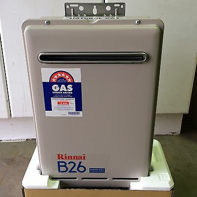 Rinnai Builders B26 Instant Hot Water System for Natural Gas 60 ° Model