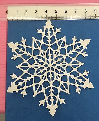 Die Cuts! 4 Pc Large WHITE 'Snowflake' 216gsm Cardstock Christmas Frozen