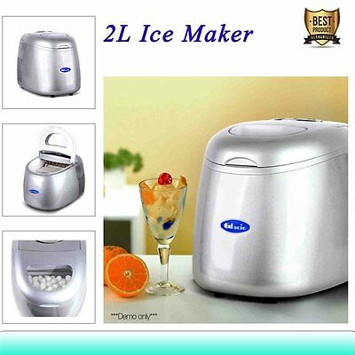 2L Portable Ice Maker Machine Commercial Automatic Home Fast Tray LED Control