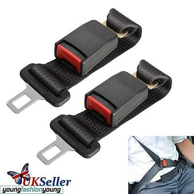 2X 36cm Auto Car Seat Belt Extension Extender Safety Support Extender Buckles