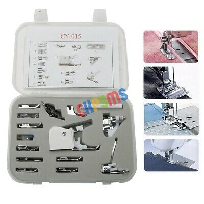 15PCS HOME FEET SET FOR LOW SHANK SEWING SINGER BROTHER Babylock Bernina Janome