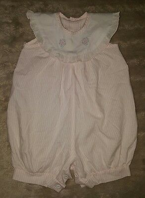 BABY GIRLS Sz 00 pink & white MARQUISE floral summer one-piece CUTE! SWEET!