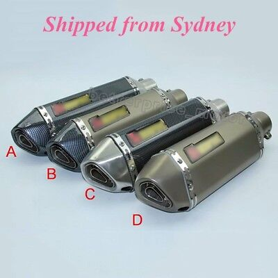 Universal 51mm Motorcycle Exhaust Muffler Pipe With Removable DB Killer Silencer