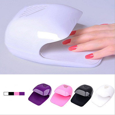 New Nail Dryer Art Drying Blower Finger Toe Varnish Polish Fan Blower + UK Post