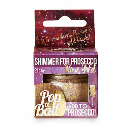 Raspberry Shimmer PopaBall for Prosecco, Cocktails, Lemonade & More!