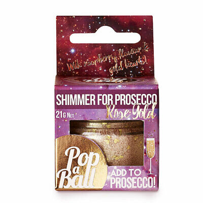 Raspberry Shimmer Popaball Bubbles for Prosecco