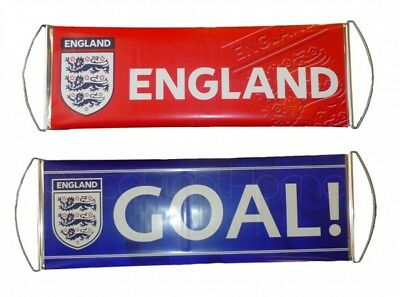 England Crest Rolling Banner Football Fanbana Goal Red Official Product