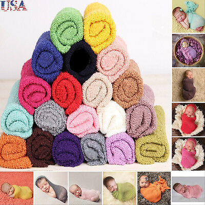 Soft Stretch Cheesecloth Wrap baby Newborn To Maternity Photography Props NEW US