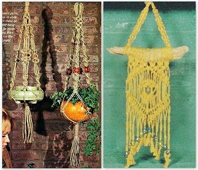 "Vintage 1975 Macrame Pattern Book ""macrame Hangers For Small Spaces"" 14 Projects"