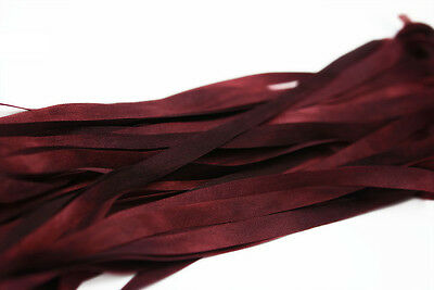 "Embroidery Silk Ribbon 7mm 1/4""  Red Bordeaux  - 3 meters"