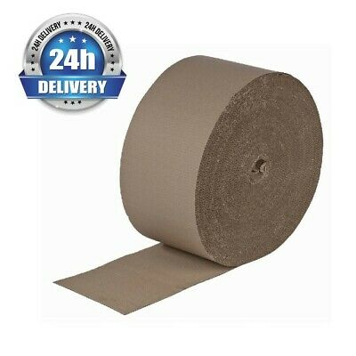 300mm x 75m Brown Corrugated Cardboard Paper Roll Protection Parcel