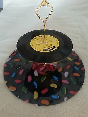 Vinyl Record Cupcake Stand MAT to protect record for cupcake stand