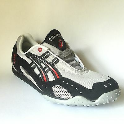 Asics Corrido Mens Cross Country Track Spikes Shoes GN208 Silver Black SIZE 10