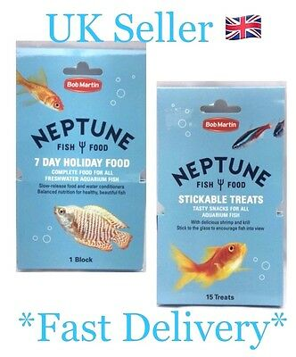 Bob Martin Neptune 7 Day Holiday Food Or Treats For All Freshwater Aquarium Fish