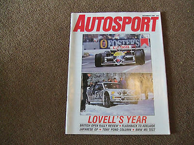 Autosport 6 November 1986 Himalayan Rally British Open Review BMW M5 Test