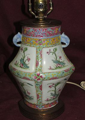 Antique Chinese Export Porcelain Vase mounted as  Lamp