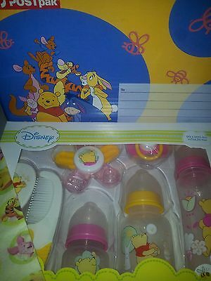 Winnie The Pooh Disney Baby New Gift Set 7 Piece. Gift Boxed Sent Anywhere Aus