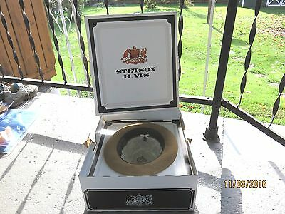 Vintage Stetson Sovereign Classic Tan Smooth Felt Hat 7 1/8 with Box