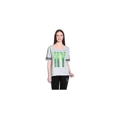 Sweat-shirt Femme SWEET YEARS New York, Manches courtes, Gris Vert