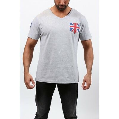 T-shirt homme SWEET YEARS Flag, manches courtes, gris