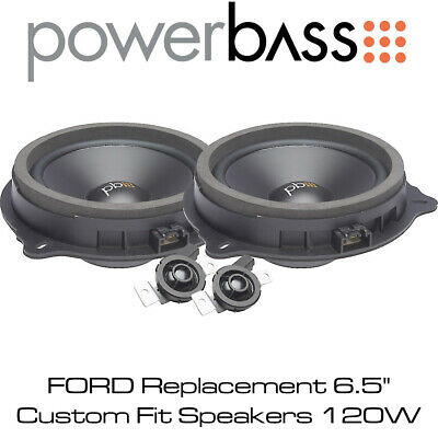 """Powerbass OE65C-FD - FORD Replacement 6.5"""" Custom Fit Speakers 120W"""