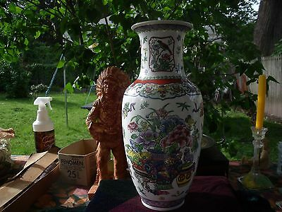Chinese Hand Painted  Vase With Enamel Marked From The 1970's