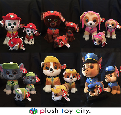 Ty Beanie Boos -Paw Patrol Soft Plush Toys -Buddy -Beanie & Teeny Size Available