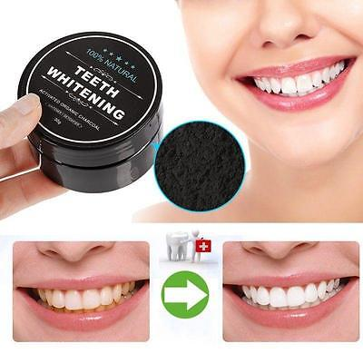 Organic Carbon Charcoal Activated Whitening Tooth Teeth Powder Natural Whites AE