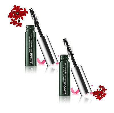 2x3.5ml (7ml) Clinique High Impact Mascara Black New Unboxed GWP
