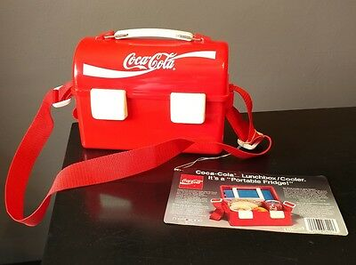 Vintage Coca Cola Dome Lunchbox Freezer with tag.