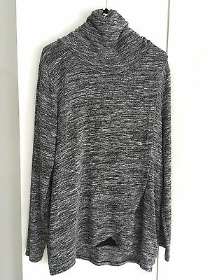 Blooming Marvellous Grey Marl Soft Easy To Wear Top Xl