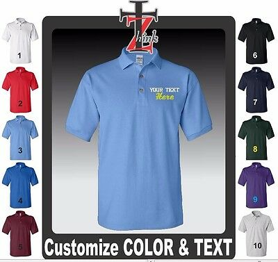 50 Custom Made Embroidered FREE LOGO Dry Blend POLO PIQUE SHIRT Embroidery