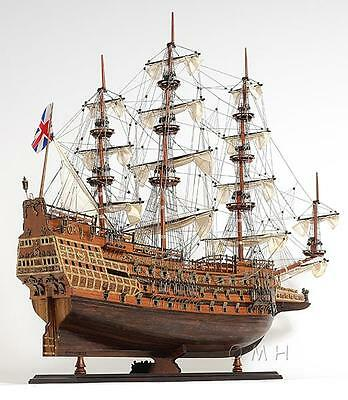"""HMS Sovereign of The Seas, Beautiful 29"""" Wooden Model Fully Built, Museum Grade"""