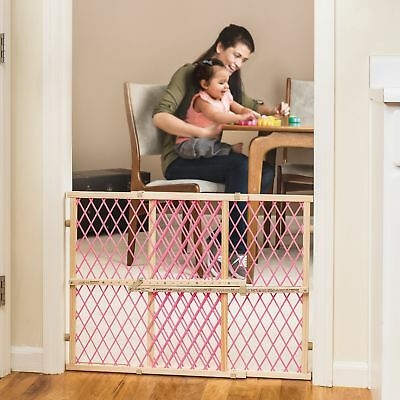 Baby Safety Gate Extra Tall Walk Through Fence Wide Child pet Toddler Wood Gate