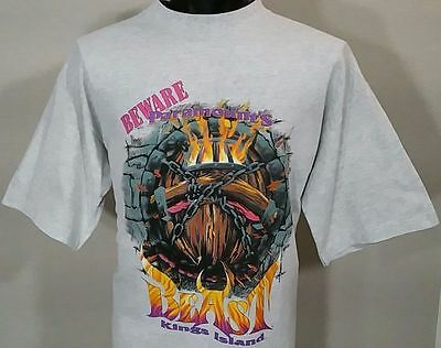 Vintage 90s THE BEAST KINGS ISLAND ROLLER COASTER T-Shirt XL