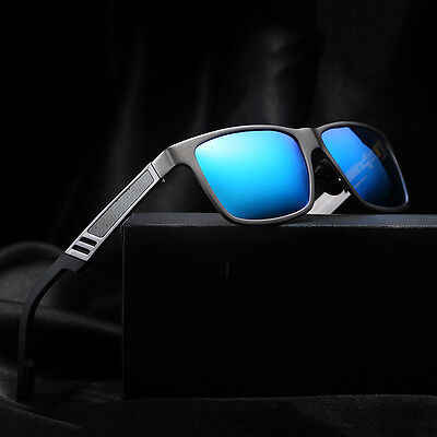 Men's Al-Mg Polarized Colored Sunglasses Outdoor Driving Sun Glasses Eyewear