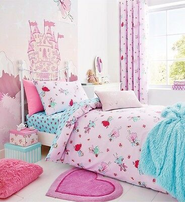 Catherine Lansfield Pink/Multi Fairies Girls Bedding Range Toddler/Single/Double