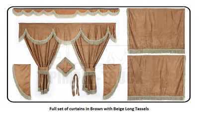 Truck curtains in Brown (Scania, Man, Volvo, Renault, Iveco, Daf, Mercedes)