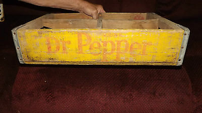 Vintage Dr. Pepper Wood Crate - Holds 4 6-Pack Cartons of Dr. Pepper