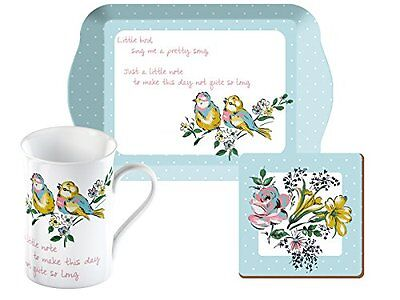 "creative tops Katie Alice Bird Song """" Time for Tea set, bianco, set di 3 (z8P)"