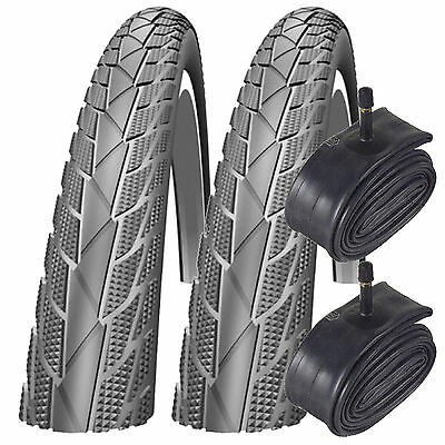 "2x Impac Streetpac 26"" x 1.75 Mountain Bike Tyres with Schrader Tubes (Pair)"