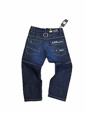 New ENZO Boys Jeans Classic Straight Leg navy blue k20 denim Designer pants 2/12